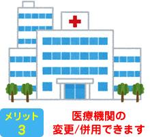 医療機関の変更/併用できます